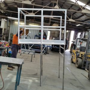 Custom Engineered Aluminium Crane Work Platform