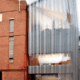 Architectural screen cladding window frames