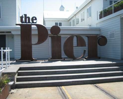 Architectural Sign Corten Geelong The Pier